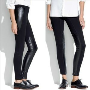 Madewell Black legging pants faux leather Size 4